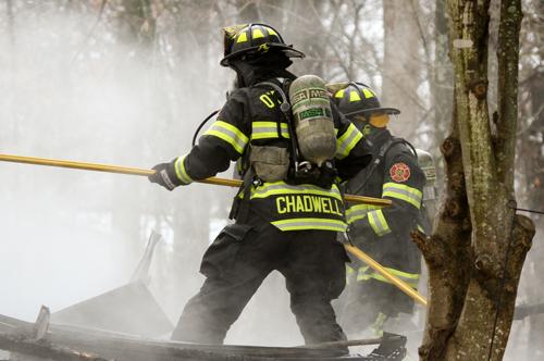 OFPD Firefighter On Scene